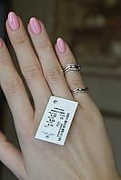 Серебряное кольцо с золотыми пластинами без камней