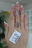 Серебряный комплект с улекситом покрыт родием, фото 4