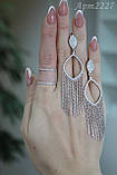 Срібний комплект 925 проби родированый, фото 2