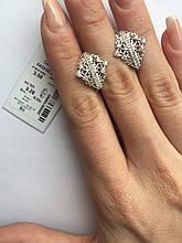 Срібні сережки 925 проби родирование