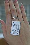 """Кільце """"Ручка младеца"""" з срібла 925 проби з фианитом, фото 2"""