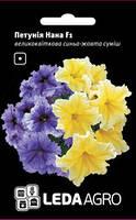 Семена петунии Нана F1, 10 сем., крупноцветковая сине-желтая смесь