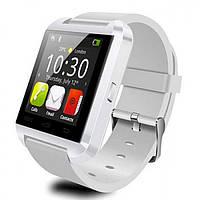 Смарт-часы Smart Watch U8 (Bluetooth, камера, плеер, шагомер, whatsApp, фейсбук) White