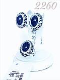 Серебряный набор с большим камнем, покрыт эмалью и родием, фото 5