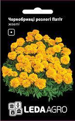 Семена бархатцев Патит, 0,25 гр., желтые, французские раскидистые