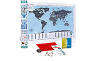 Скретч карта мира в тубусе Flags edition на английском