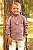 Детская льняная рубашка для мальчика с вышивкой ДМ07/1-286