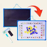 Доска для рисования магнитная двухсторонняя KI-7003