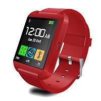 Смарт-часы Smart Watch U8 (Bluetooth, камера, плеер, шагомер, whatsApp, фейсбук) Red