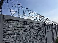 Колючая проволока (Егоза) Спиральный барьер безопасности d-450 (3 скобы)