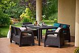 Комплект садових меблів зі штучного ротангу BAHAMAS FIESTA темно-коричневий (Keter), фото 6