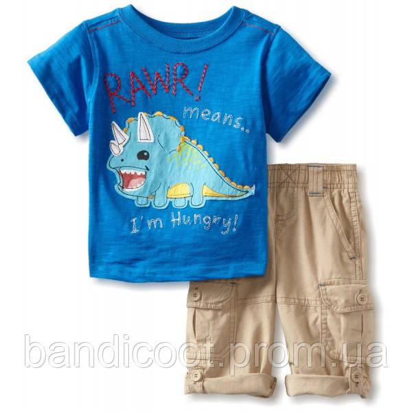 Набор для мальчика футболка, шорты  Nannette, размер 12 месяцев