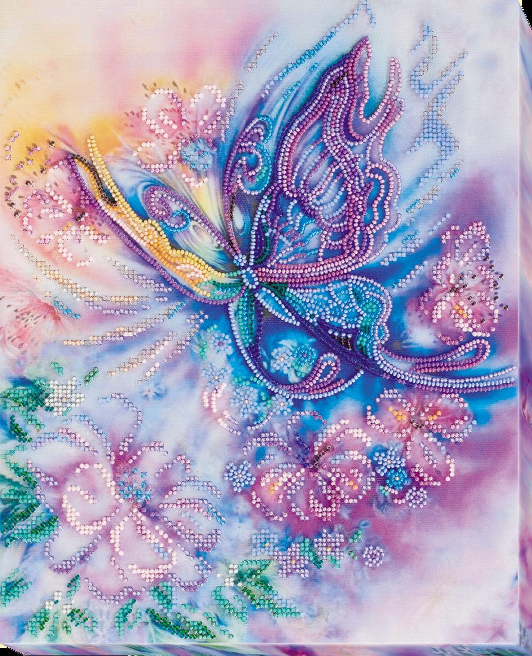 Набор для вышивки бисером на холсте Воздушное Па