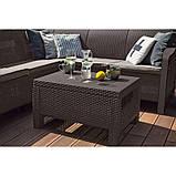Комплект садових меблів зі штучного ротангу BAHAMAS RELAX темно-коричневий (Keter), фото 3