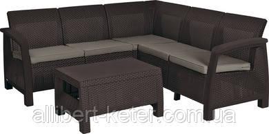 Комплект садових меблів зі штучного ротангу BAHAMAS RELAX темно-коричневий (Keter)