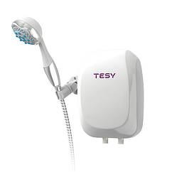 🇧🇬 Проточный электрический водонагреватель TESY 5000 Вт с душевой лейкой, настенный (IWH 50 X02 BA H)