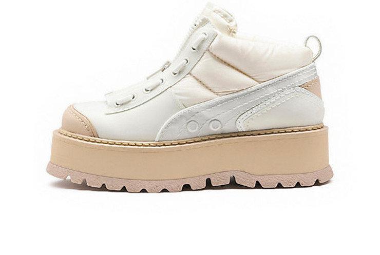 7dcd02e674b0 Женские Ботинки Puma Rihanna Boot White Pink (Реплика ААА Класса ...