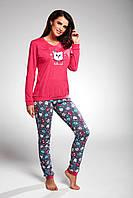 Пижама хлопковая женская с совой Cornette Owl 683/170