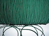 Шляпная резинка (круглая) 2мм зеленая, фото 2