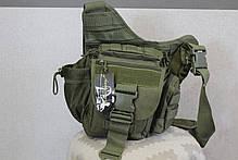 Городская универсальная сумка Silver Knight с системой M.O.L.L.E Olive (865 олива), фото 3