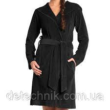 Халат черный с капюшоном, Vossen S!!!