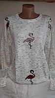 Стильная женская кофточка с бусинами Фламинго Турция