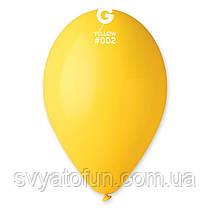 """Латексні повітряні кульки 12"""" пастель 02 жовтий, Gemar"""