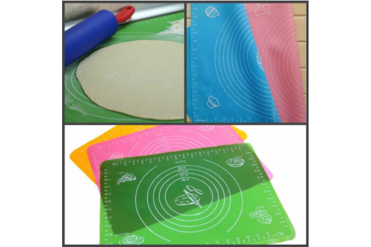 Силиконовый коврик для раскатки и запекания теста 40*50