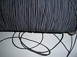 Шляпная резинка (круглая) 2мм серый, фото 2