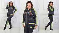 Женский спортивный костюм Адидас Adidas ткань турецкая двух нитка высокого качества до 54 размера, фото 1