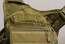 Городская универсальная сумка Silver Knight с системой M.O.L.L.E Песок (865-coyote), фото 2
