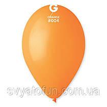 """Латексні повітряні кульки 12"""" пастель 04 помаранчевий, Gemar"""