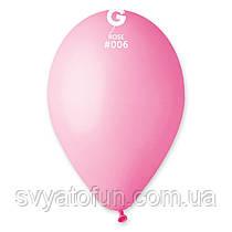 """Латексні повітряні кульки 12"""" пастель 06 рожевий Gemar"""