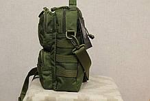 Городская сумка, барсетка на плечо (Fishermen) Olive (9060 олива) , фото 3
