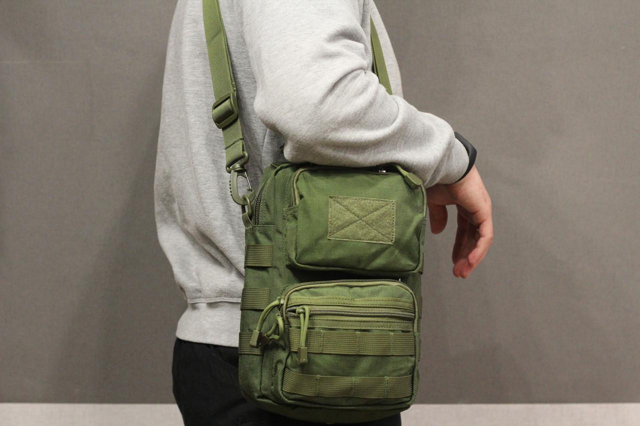 Городская сумка, барсетка на плечо (Fishermen) Olive (9060 олива)