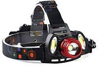 Фонарь налобный 2в1 YT-1500, фото 5