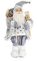 """Новогодняя кукла """"Санта Клаус с лыжами"""" 45см"""