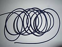 Шляпная резинка (круглая) 2мм фиолетовый
