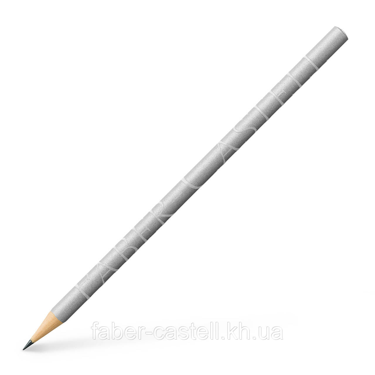 Лимитированный карандаш графитный Faber-Castell DESIGN 250 лет серебряный  корпус, 118331