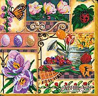 Набор для вышивки бисером на холсте Весенние сокровища