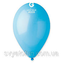 """Латексні повітряні кульки 12"""" пастель 09 блакитний, Gemar"""