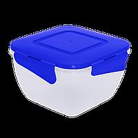 Контейнер для пищевых продуктов квадратный с зажимом 0.9