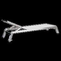 Шезлонг Papatya Zen белая ткань (сталь), фото 1