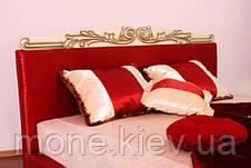 """Кровать """"Ева"""" двуспальная с мягким изголовьем и подъемным механизмом + 3 подушки, фото 2"""