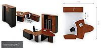 Готовая офисная мебель для кабинета руководителя Эйдос 3