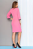 Привлекательное Платье с кружевной отделкой контрастного цвета   44-50р, фото 2
