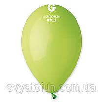 """Латексні повітряні кульки 12"""" пастель 11 салатовий Gemar"""