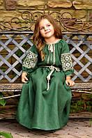 Детское платье из натурального льна ДП16/7-236, фото 1