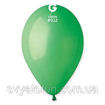 """Латексні повітряні кульки 12"""" пастель 12 зелений, Gemar"""