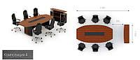 Мебель для кабинета начальника премиум класса Эйдос 4